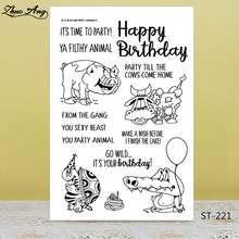 Happy birthday Transparent silicone Stamp for DIY Scrapbooking/Photo Album Decorative Card Making Clear Stamps Supplies
