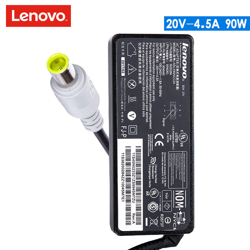 Original 20V 4.5A 90W Laptop AC Adapter Power Charger for Lenovo ThinkPad T530 E430 X60 SL300 X300 Z60 for ins 1427 1425 laptop charger 90w cn 0p189k p189k original 2 years warranty