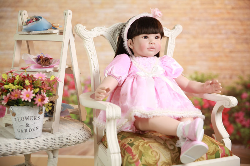 60cm Silicone Reborn Baby Doll Toys Realistic Vinyl Princess Toddler Babies Girls Bonecas Birthday Gift Play House Toy Lifelike60cm Silicone Reborn Baby Doll Toys Realistic Vinyl Princess Toddler Babies Girls Bonecas Birthday Gift Play House Toy Lifelike