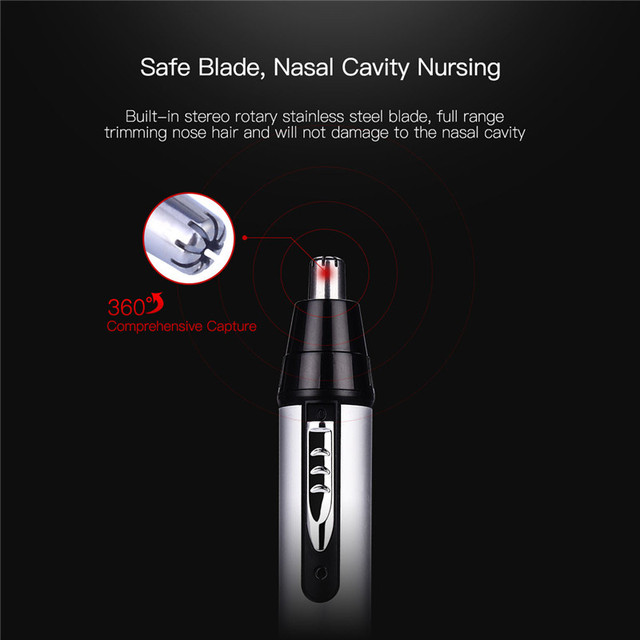 CkeyiN 3 in1 Electric Ear Nose Trimmer for Men's Shaver Rechargeable Hair Removal Eyebrow Trimer Safe Lasting Face Care Tool Kit 2