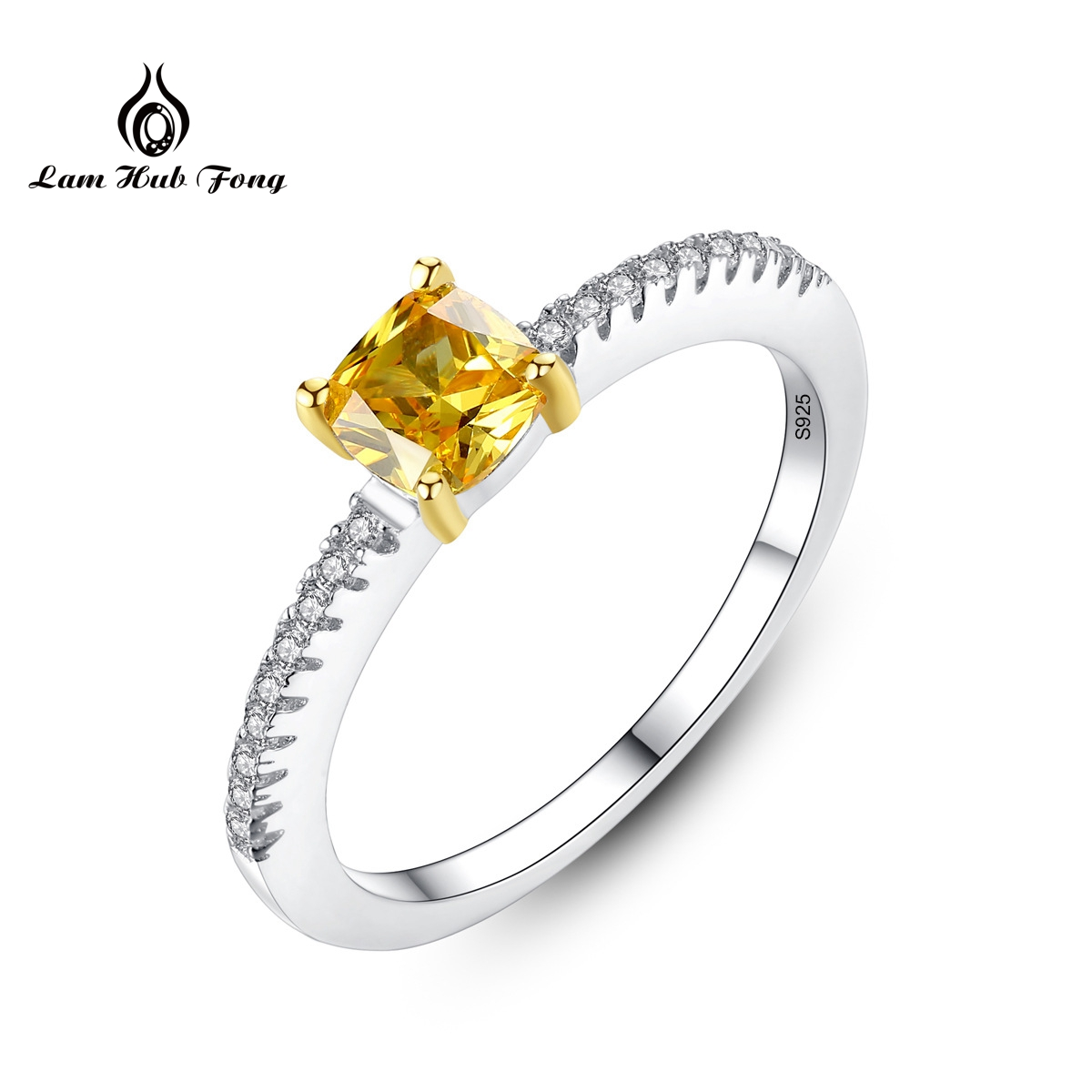 New Lady Luxury Square Natural Citrine Ring Birthstone Solitaire Ring Genuine 925 Sterling Silver Fine Jewelry For WomenNew Lady Luxury Square Natural Citrine Ring Birthstone Solitaire Ring Genuine 925 Sterling Silver Fine Jewelry For Women