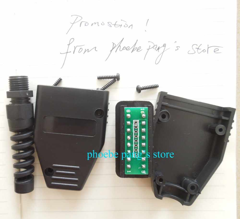 FINETRIP Factory Price! High Quality Universal 16Pin 16 pin OBDii OBD2 J1962 Connector Male Plug Adapter 1 Piece