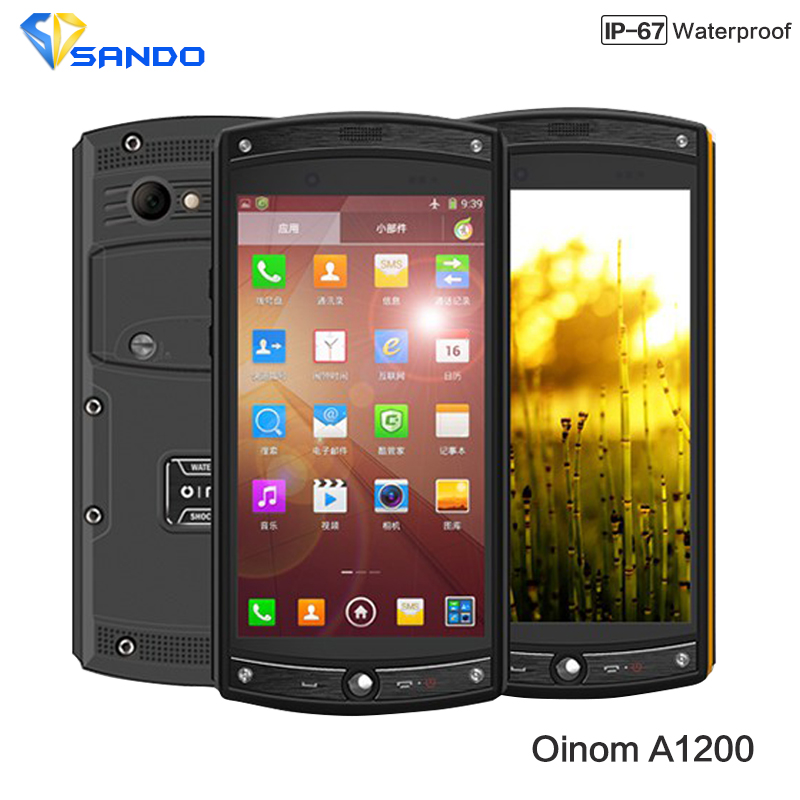 Newest 4G FDD LTE Oinom LMV10 1200 IP68 waterproof phone Quad Core Qcomm MSM8926 Android 4