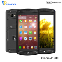Newest 4G FDD-LTE Oinom LMV10 1200 IP68 waterproof phone Quad Core Qcomm MSM8926 Android 4.4 Gorila glass 3 2G RAM 13.0MP