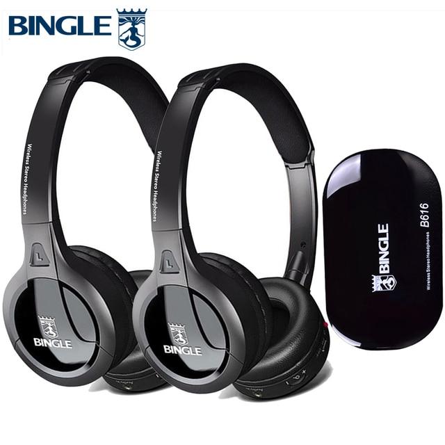 2019 New 2PCS/Set 3D HIFI Stereo Wireless Headphones Headset With Transmitter For TV,PC,DVD,Audio,Studio,Silent Disco,Cellphones