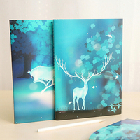 2pcs Cute Notebook Diary Book Stationery Office Material School Supplies Fashion Gift Prize Free Shipping Notebook