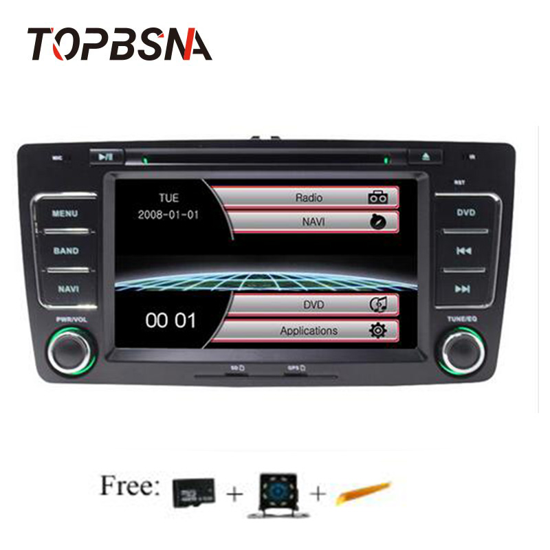TOPBSNA 2 din 7 pouces voiture multimédia pour Skoda Octavia 2005-2008 2013 autoradio lecteur GPS Navigation RDS radio stéréo Audio auto