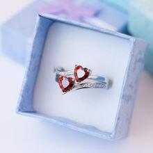 Huitan Романтические кольца для помолвки женщин симпатичный