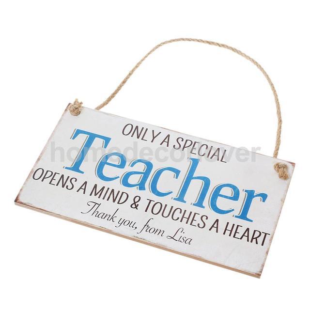 teacher wooden plaque sign wall art home decor special teacher gifts