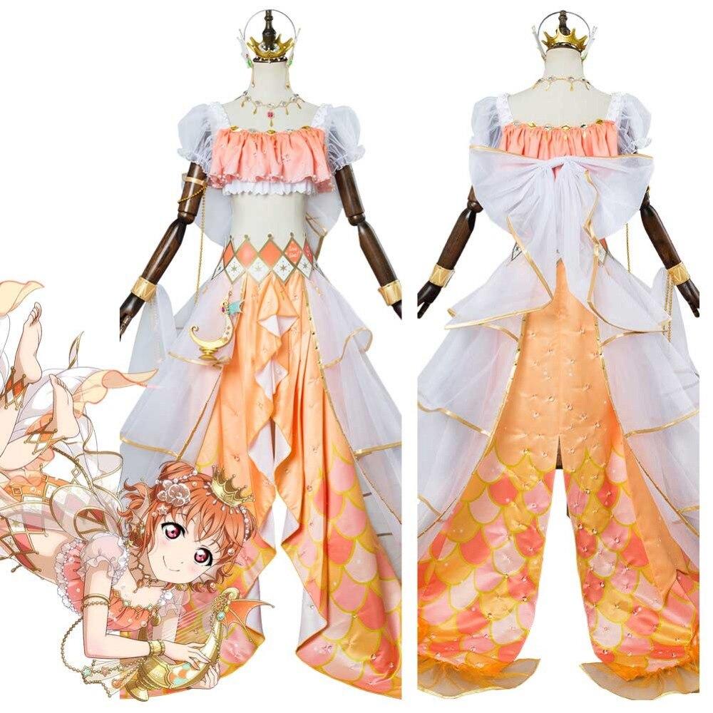 Lovelive Sunshine G's Magazine Takami Chika Cosplay Mermaid Awaken Costume Halloween Carnival Cosplay Costumes
