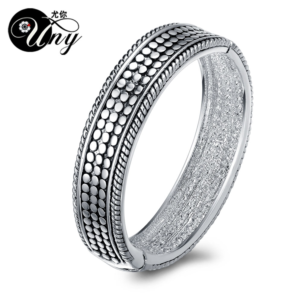 UNY Bangle Fashion Brand David jewelry Dots Vintage Retro Bangle Elegant Beautiful Valentine Mothers day Gift