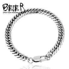 Hot Curb Cuban Snail Bracelet Stainless Steel For Mens Womens Jewelry Gift 7/9/11mm Width BR-C001(China)