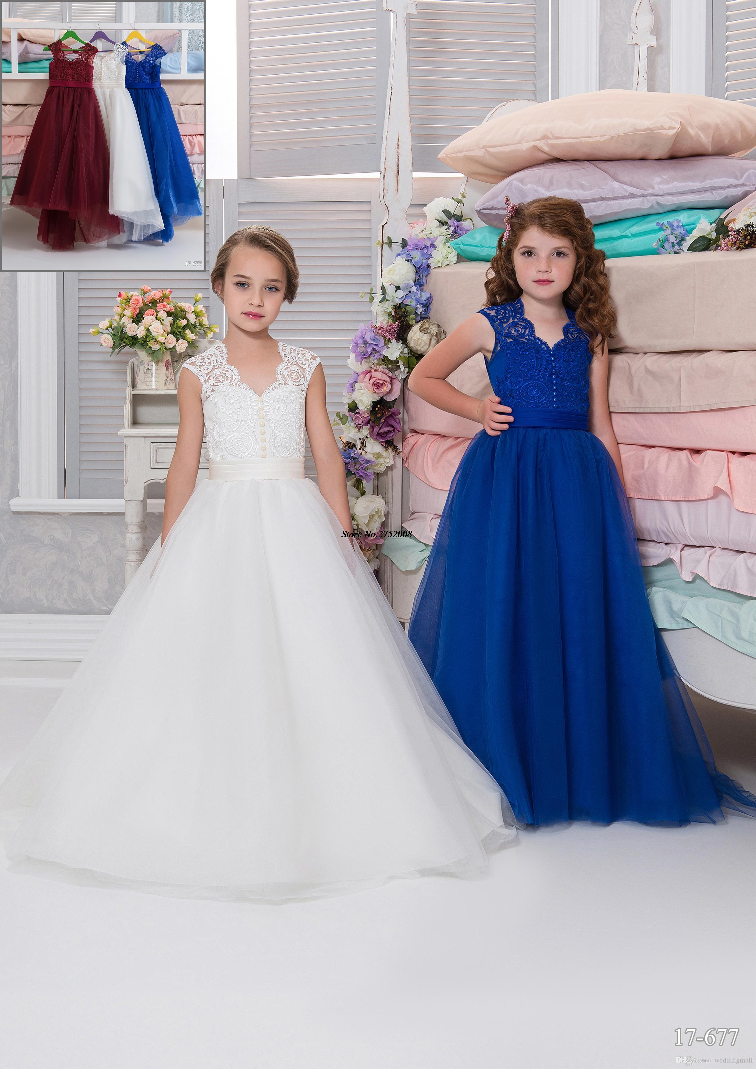 Cheap lace arabic 2017 royal blue flower girl dresses for weddings cheap lace arabic 2017 royal blue flower girl dresses for weddings ball gown tulle little girls pageant dress party gown f295 in flower girl dresses from izmirmasajfo