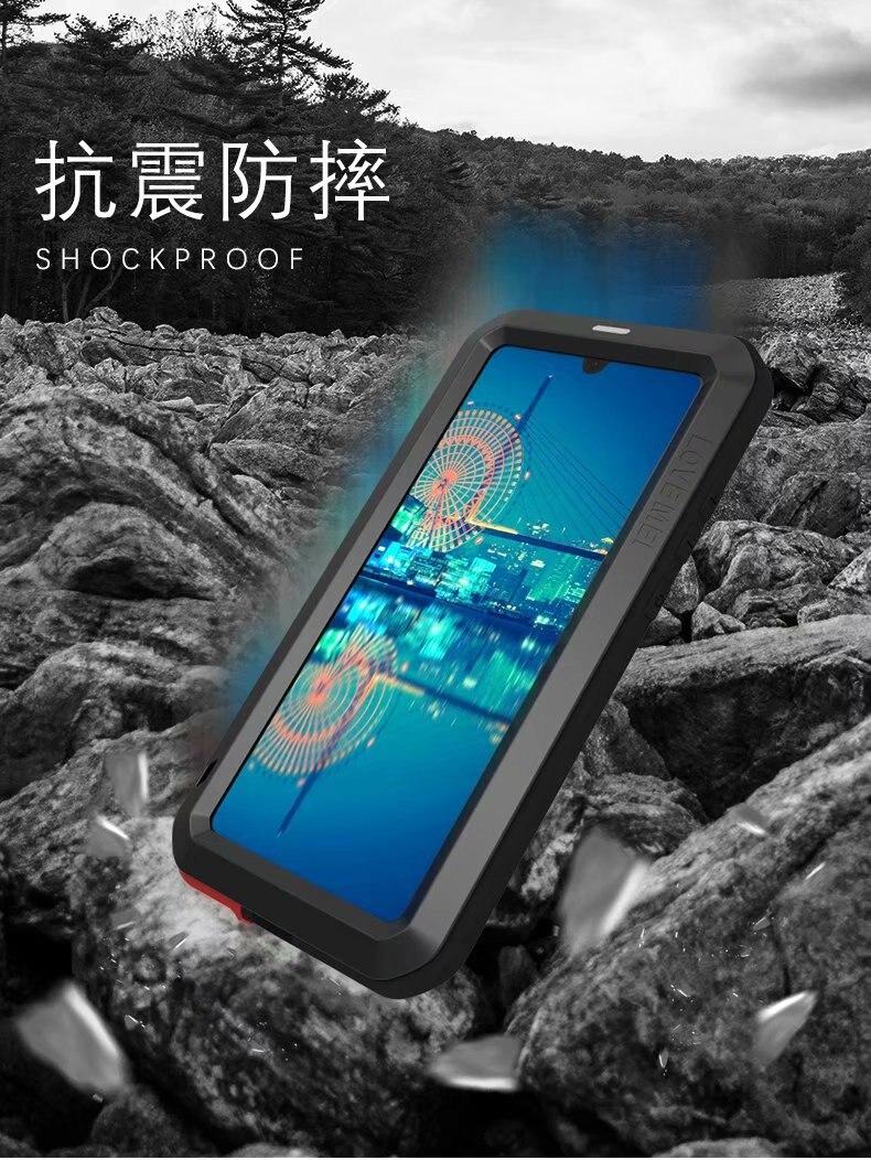 P30 Lite Love Mei puissant aluminium métal verre trempé 360 couverture complète antichoc armure étui pour huawei P30 Pro Life étanche - 5