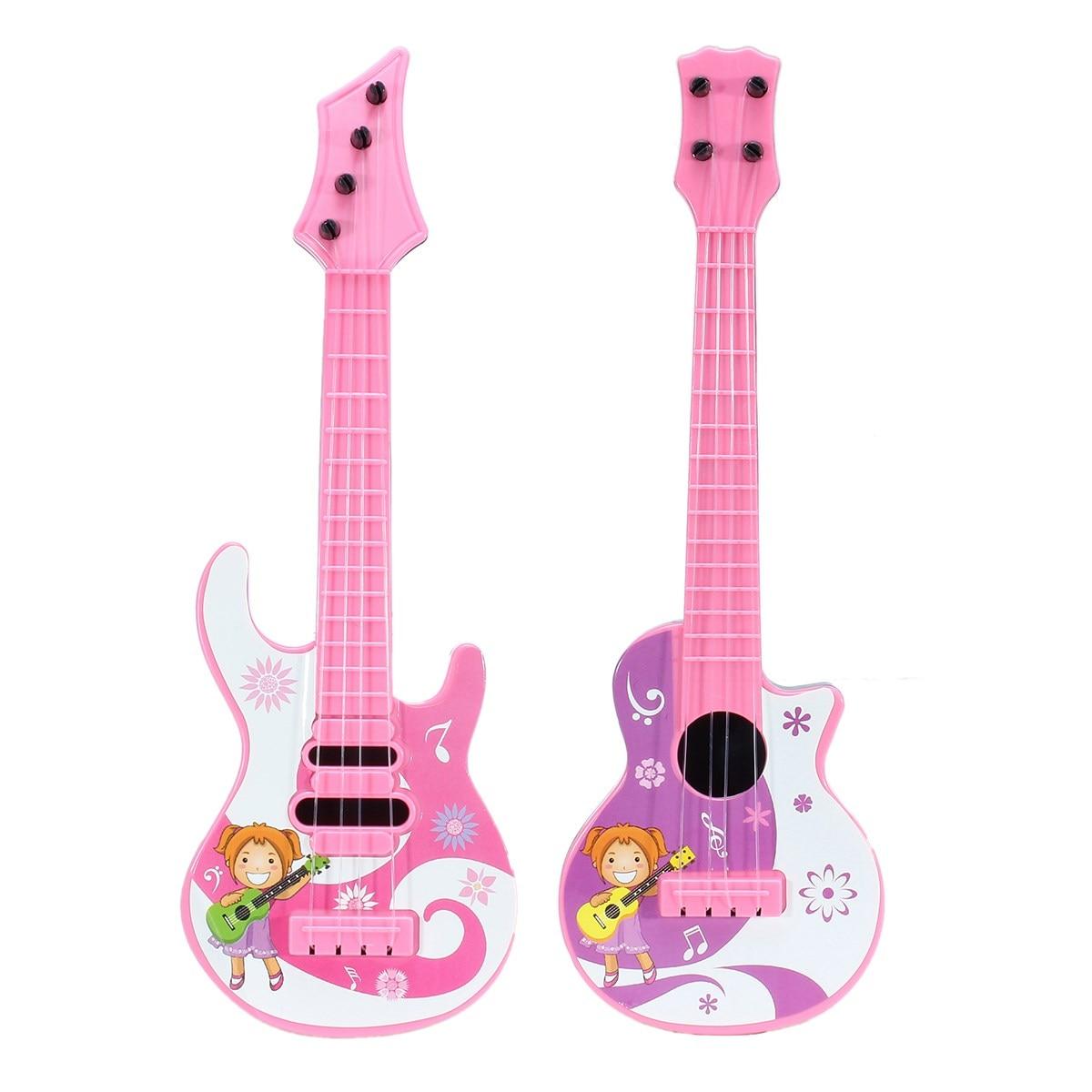 Diseño De Dibujos Animados De Moda Plástico Guitarras Juguete Mini Instrumento Musical Educatonal Juguetes Para Niños Bebé Niños Juguete Musical