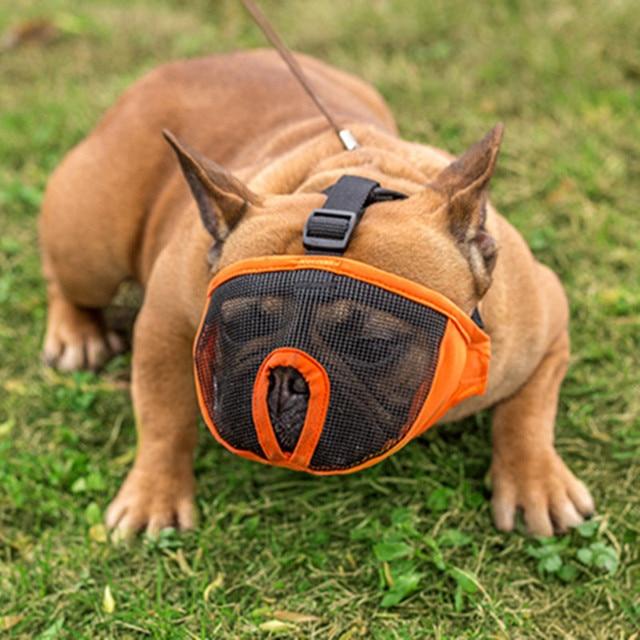 Traspirante Muso Del Cane Per Il Cane di Nylon Maschera Corteccia Mesh Pet Cane