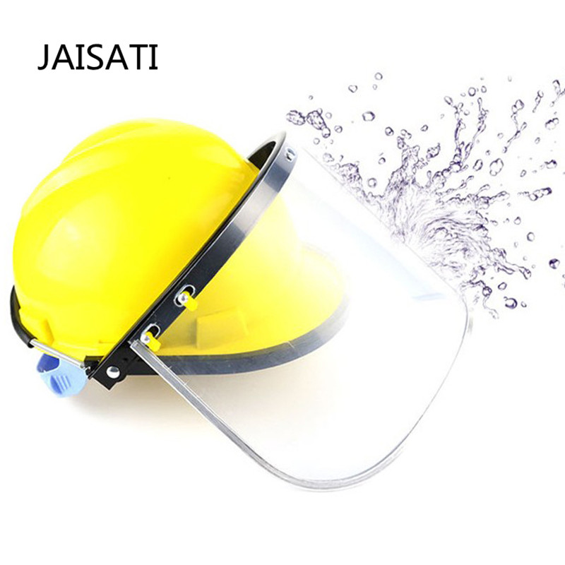 JAISATI Protective helmet bracket anti - splash aluminum alloy bracket mask PVC anti - shock masks jaisati transparent protective anti oil splash welding mask headset plexiglass protective masks