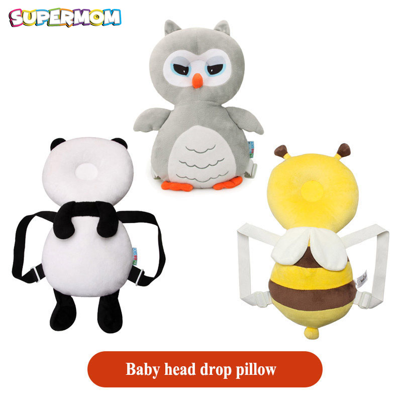 Baby Bee Pillow Cartoon Baby Head Cushion Protection Pad Toddler Headrest Pillow Neck Cute Wings Nursing Drop Resistance Cushion