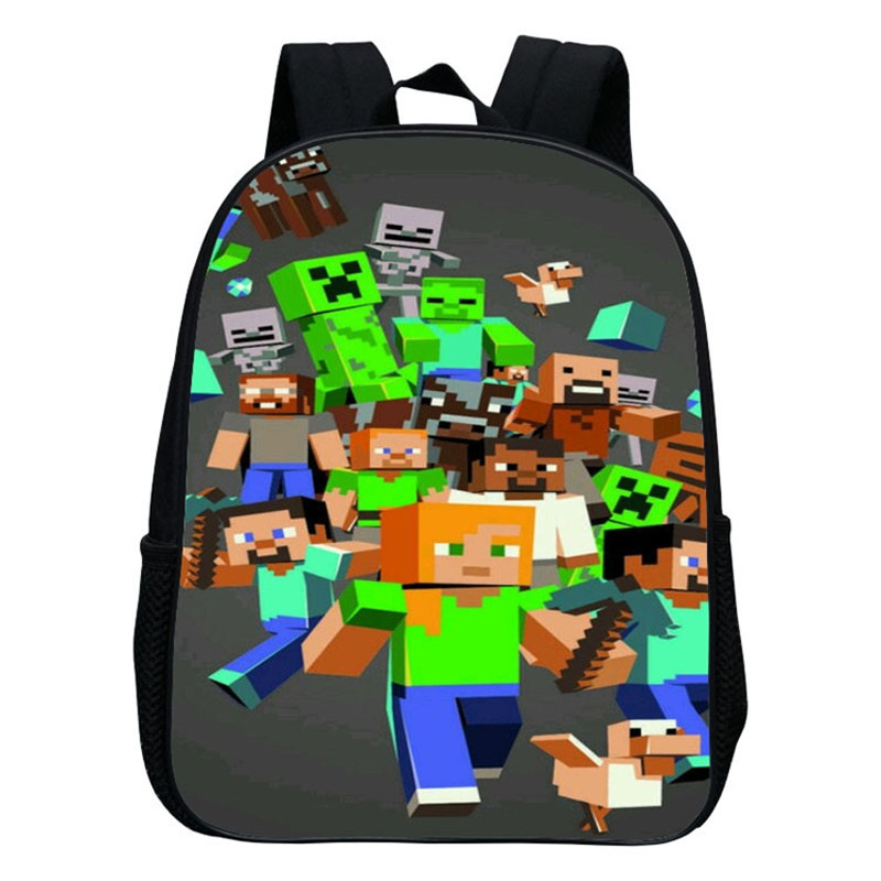 colores y llamativos nuevo diseño gran inventario Kindergarten Children School Bag Minecraft Cartoon Backpack ...