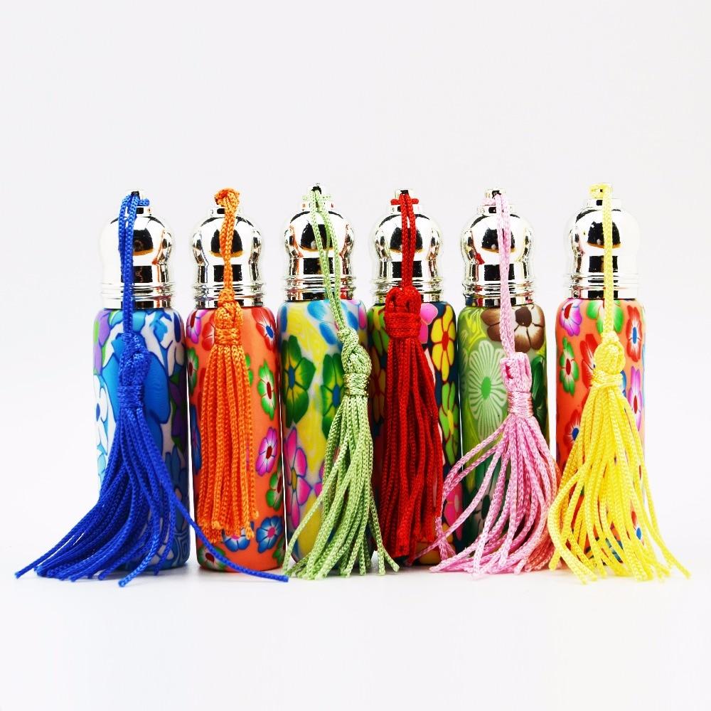 Parduodamas 10 ml stiklo ritinys ant butelių, Fimo molio kvepalų buteliai, puokštės stiklo kvepalų buteliukų didmeninė prekyba
