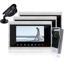 Homefong 7 Pulgadas TFT Táctil de Color de Video Teléfono de La Puerta Versión de la noche del sensor del Sistema de Intercomunicación IR Con Soporte de Cámara CCTV record
