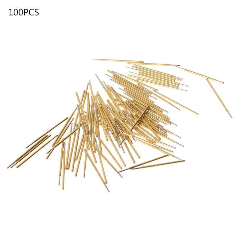 100 ชิ้น/แพ็ค P50-J1 ฤดูใบไม้ผลิ Test Probe รอบหัว Dia 0.68 มิลลิเมตร L16mm สำหรับ PCB การทดสอบ