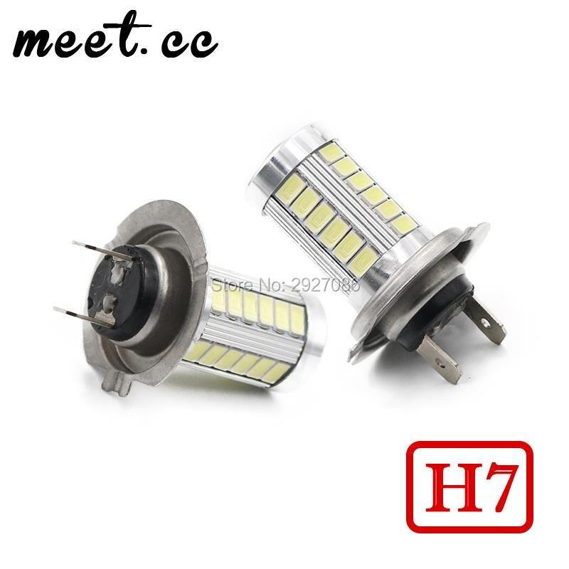 Meet.Cc 2Pcs Car Lights H7 Fog Driving Light Auto Led Lights H7 H4 12V Replacement Parts Lights H4 Led Bulbs Headlights