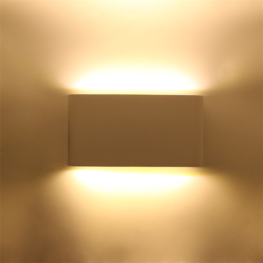 Waterproof 12W COB led wall light fixture AC85 265V wall lamp indoor decoration Simple style for Foyer Bedroom Study|LED Indoor Wall Lamps| |  - title=