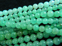 Free Shipping 58 Beads Set 29g Natural A Chrysoprase 7mm Smooth Round Loose Beads Stone For