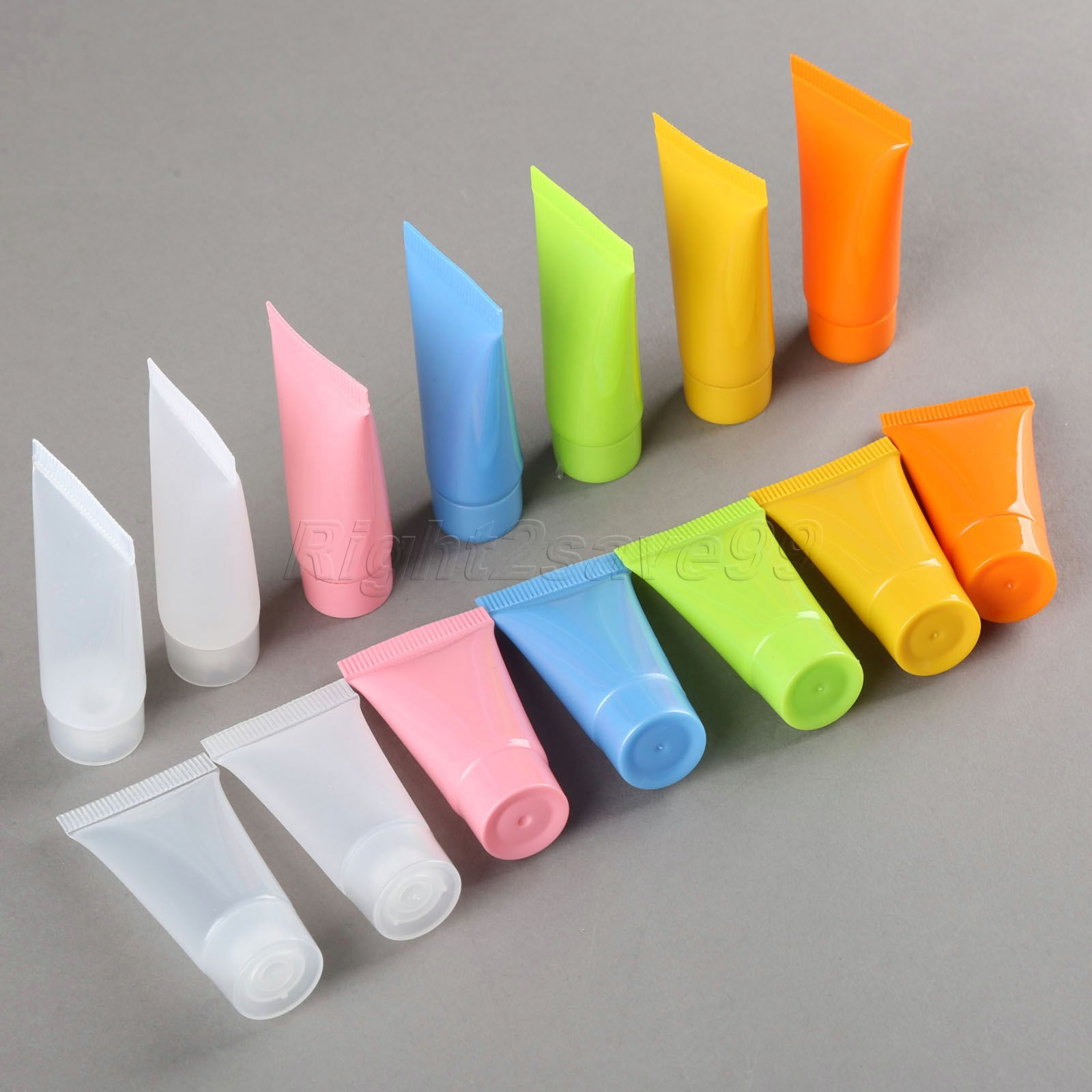 5pcs Cosmetic Soft Tube 5ml/10ml Plastic Lotion Containers Empty Makeup Squeeze Tube Refilable Bottles Emulsion Cream Packaging