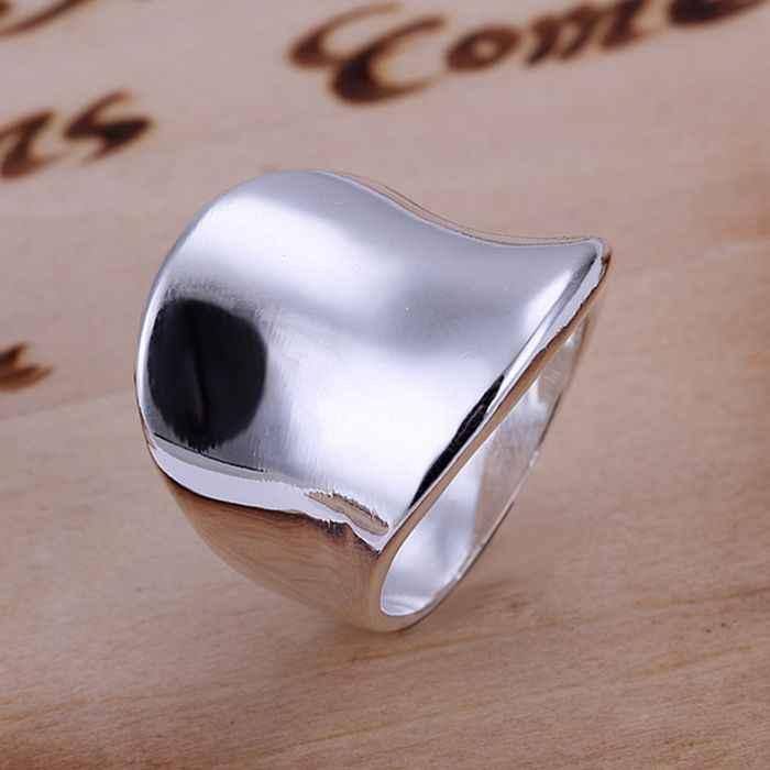 เงิน 925 แหวนแฟชั่น Thumb Ring แหวนผู้หญิงเงินของขวัญเครื่องประดับนิ้วมือแหวน SMTR052