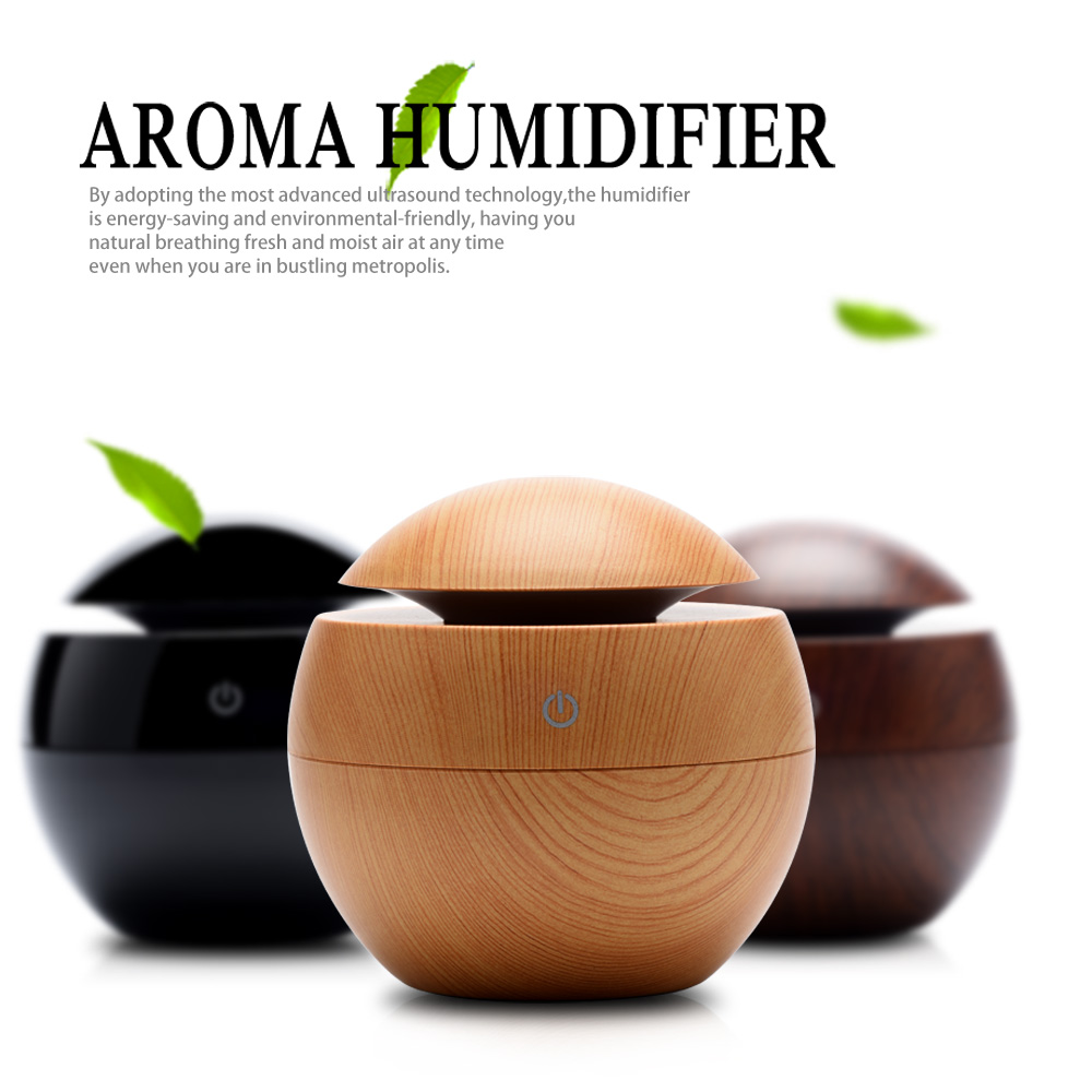 USB Ultrasonic Humidifier LED Aroma Diffuser Difusor De Aroma Essential Oil Diffuser 130ML Aromatherapy Mist Maker цена
