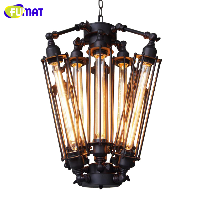 FUMAT American Retro Pendant Lights Industrial Lamp Loft Vintage Restaurant Bar Alcatraz Island Edison Lampe Hanging Lighting new loft vintage iron pendant light industrial lighting glass guard design bar cafe restaurant cage pendant lamp hanging lights