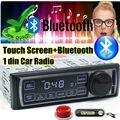 2015 Новый Стерео FM автомобильный Радиоприемник bluetooth MP3 Аудио Плеер Управления с сенсорным Экраном Bluetooth USB Порт SD/MMC Карта авто 1 din размер