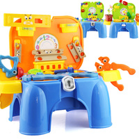 New 1 Set Pretend Play Toy Multifunctional Children Kitchen Toy Girl Baby Toy Sit Chair Portable Box Gift Simulation Table Model