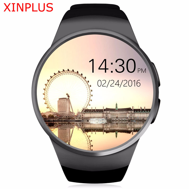 KW18 Smart Watch Heart Rate Monitor MTK2502 Passometer Message Reminder Support SIM TF Card Smartwatch for Android IOS Phone