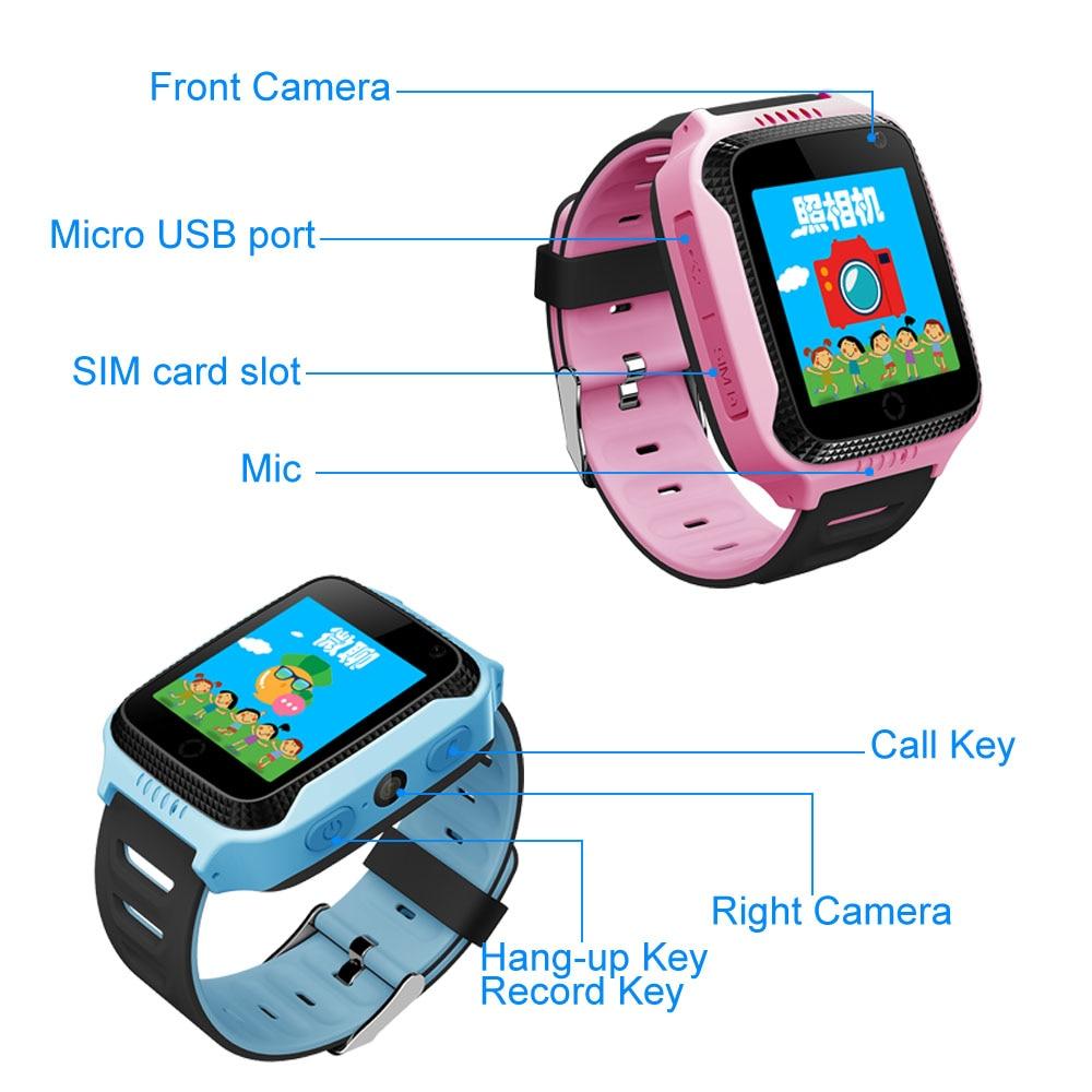 GPS reloj inteligente para bebé niño tarjeta SIM llamada SOS linterna de la Cámara reloj de pulsera para chico y Chica IOS/ android PK Q100 Q50