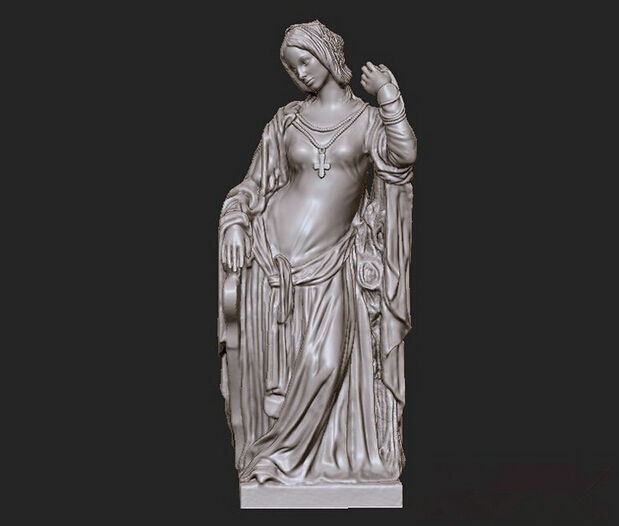 New 3D model relief STL format for CNC Circular engravure Western Sculpture Model 01 maicadomnului 3d model relief figure stl format religion 3d model relief for cnc in stl file format