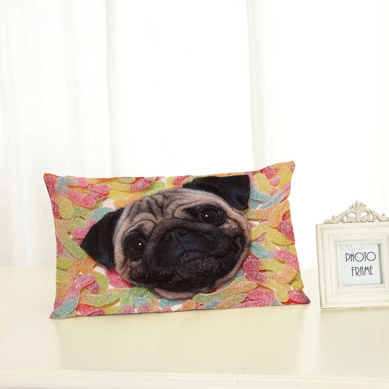 คุณภาพสูงน่ารักสุนัข Housewear Lumbar หมอนเก้าอี้เบาะรองนั่งหมอนนุ่ม Cojines Almofadas ฝ้าย Linen สแควร์ 30x50