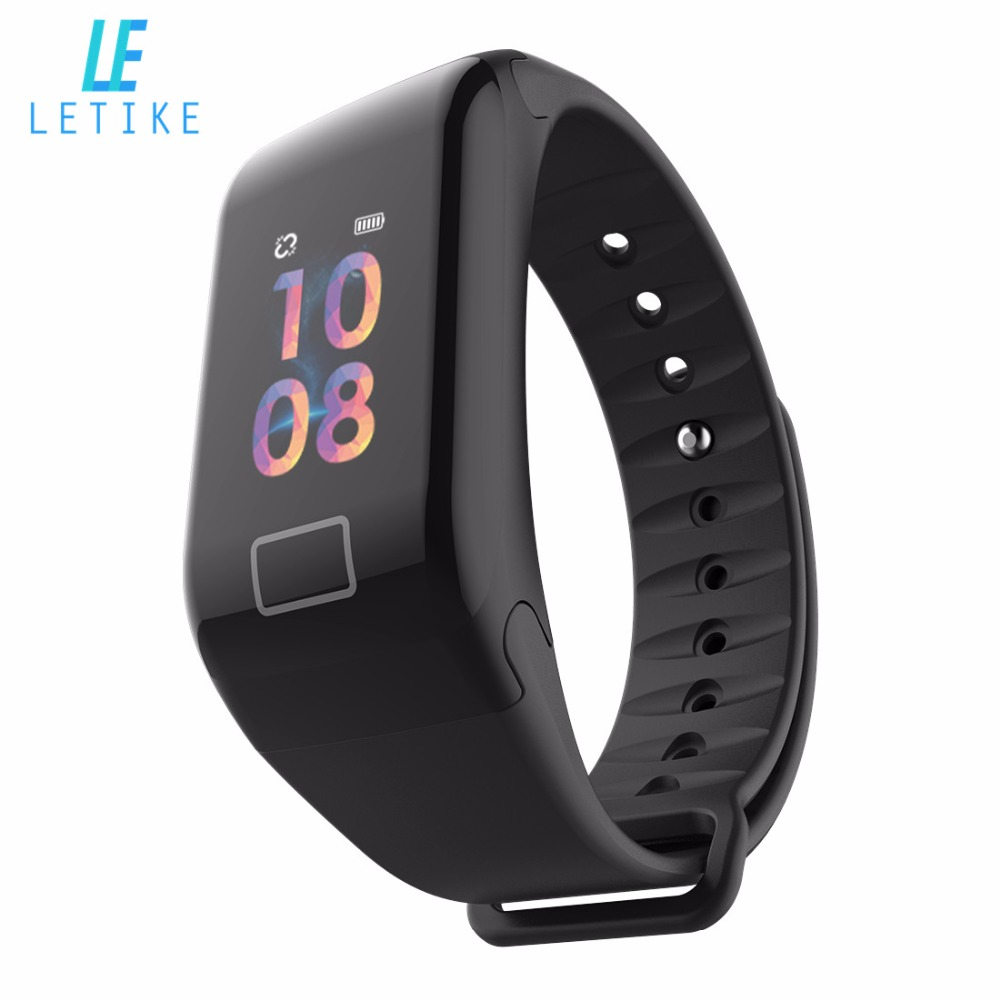 Letike F1s Fitness Tracker Color screen blood pressure Smart Bracelet Heart Rate Monitor sleep tracker Wristband For Android IOS все цены