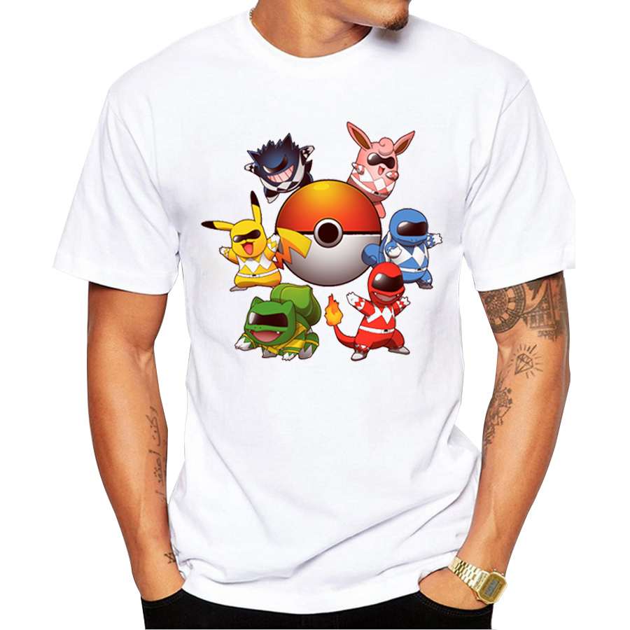 Pokemon go men t shirt fashion go poke rangers t shirts for Where to get t shirts printed