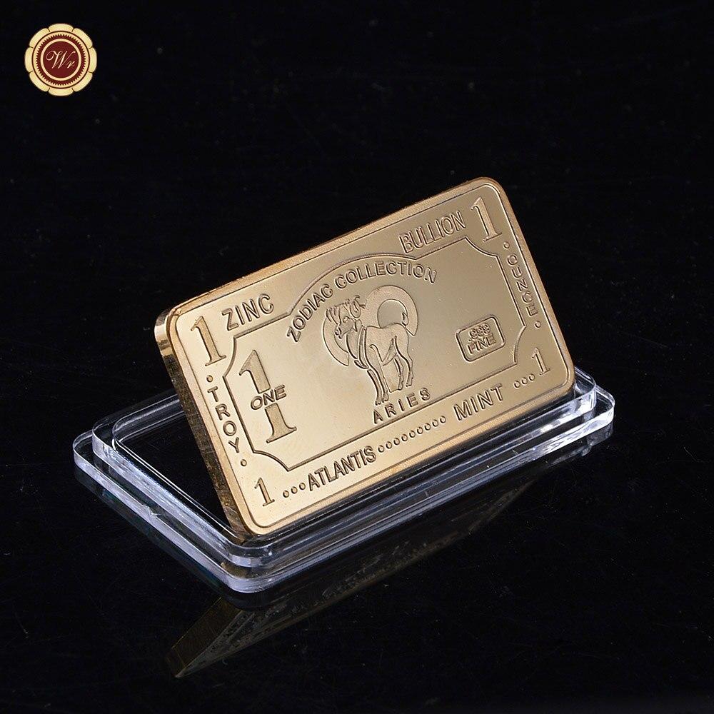 36fbab7258a72 Atlantis Hortelã 1 Buillion Uma Onça de Ouro No Valor de 24 k Réplica Moeda