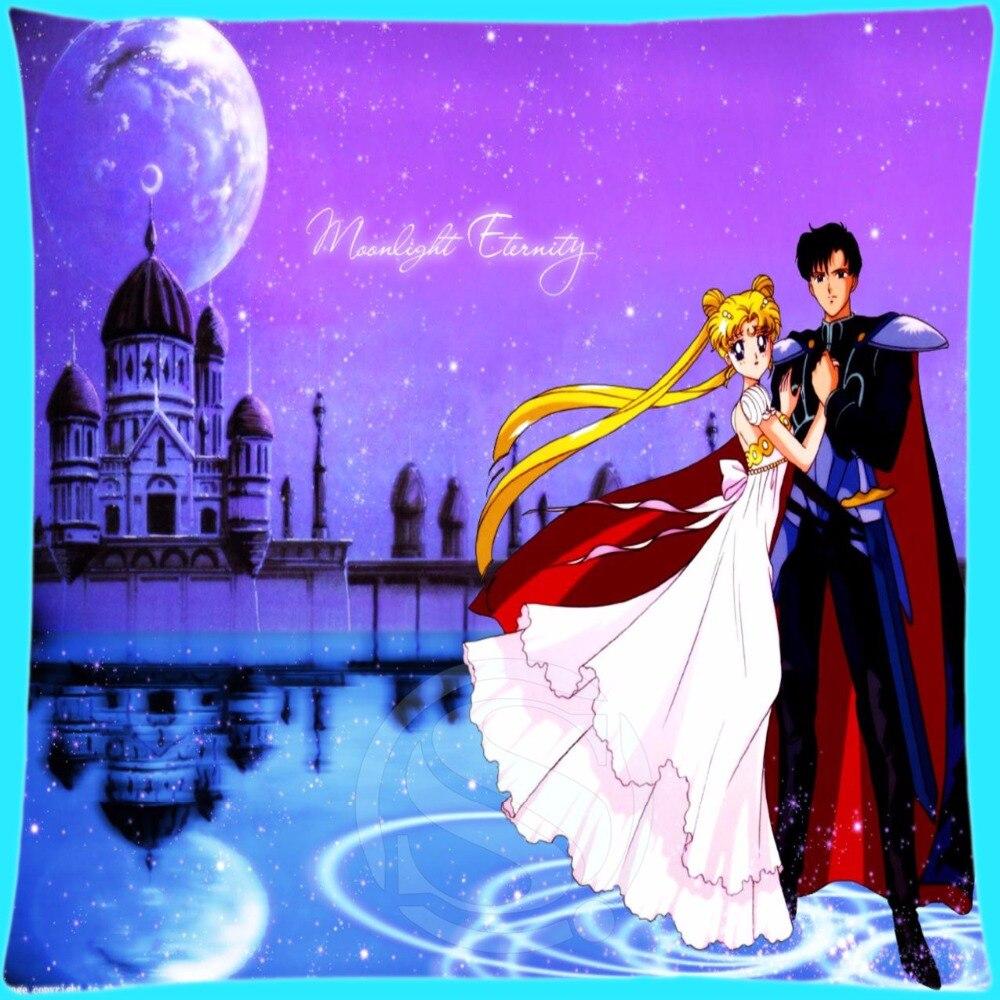 H-P077 Custom Pillow Case Sailor Moon#11 Square Pillowcases zipper 35x35 cm (One Side) 727-@H077