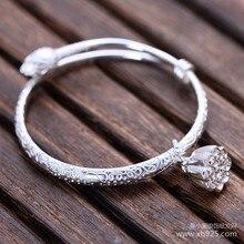925 joyería de plata esterlina brazalete pequeño loto flor modelos femeninos envío