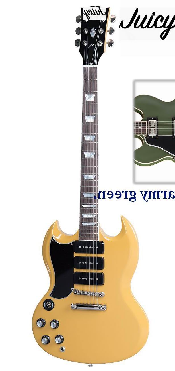 Custom SG model Electric Guitar Left Handed In Matte Army Green 2017 top selling chinese white 50th anniversary custom electric guitar left handed custom available in stock free shipping