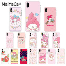 Maiyaca Best friend My melody Pink rabbit TPU Soft Silicone Phone Case Cover for Apple iPhone 8 7 6 6S Plus X XS MAX 5 5S SE XR(China)
