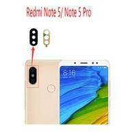 2 piezas para Xiaomi Redmi Note 5/Note 5 Pro Lente de Cristal de la cámara trasera Lente de Cristal de la cámara con reparación de reemplazo de pegamento espaà a