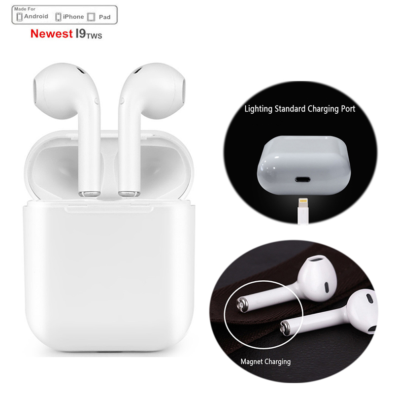 DoubleX Mini IFANS I9S TWS Wireless earphone Bluetooth Earphone Invisible Earbuds With Mic For Iphone X 8 7 Samsung xiaomi huaw ifans ifans101 white