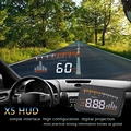 X5 Digital Car Speedometer Hud Display OBD2 Windshield Projector For Automobile Head Up Display Car Speed Projector Accessories