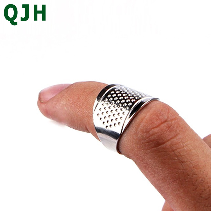 2PCS quilting process accessories silver ring thimble finger protection home embroidery cross stitch DIY tools